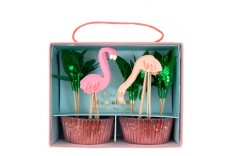 Kit cupcake flamant rose Meri Meri