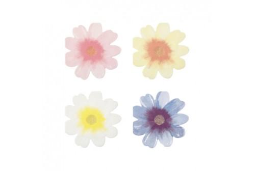 Serviettes fleurs Meri Meri