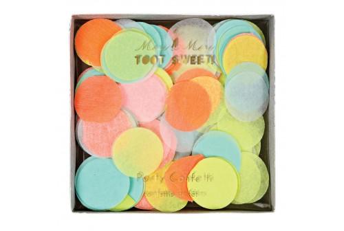 Confettis ronds néon