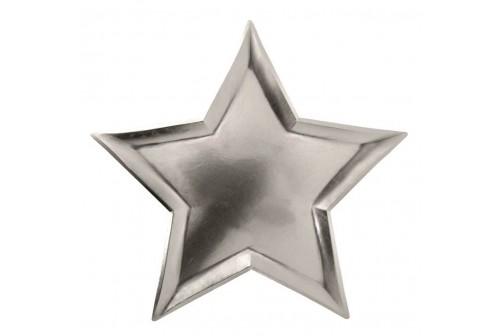 Assiettes étoiles argent