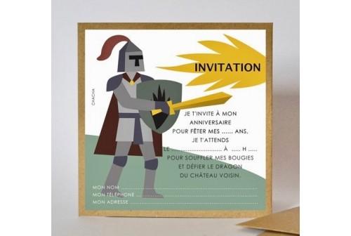 Invitation chevalier - Chacha