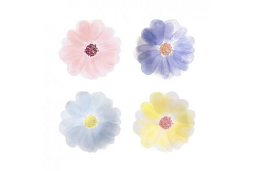 8 Assiettes creuses Fleur