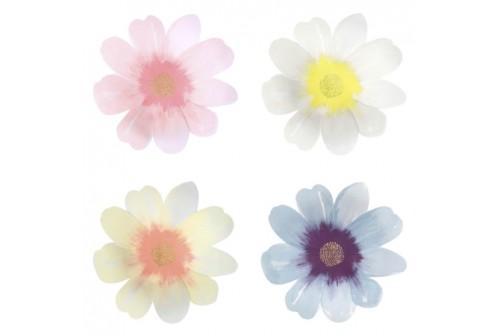 8 Grandes Assiettes creuses Fleur