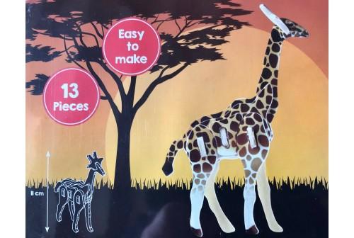 Puzzle animaux 3D en bois