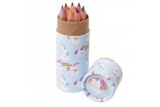 Etui licorne de 12 crayons de couleur