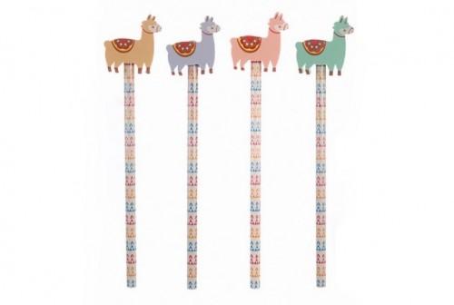 crayon avec gomme Lama