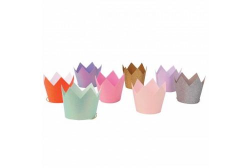 8 couronnes pailletées