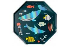 8 assiettes sous la mer
