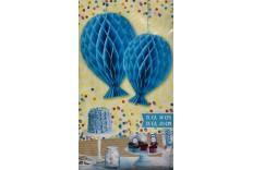 2 Ballons bleu nid d'abeille