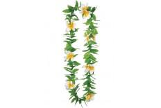 Collier à fleurs blanches