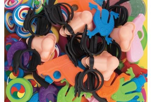 Sachet de 64 jouets de fêtes