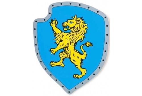 Bouclier en bois Lion Jaune