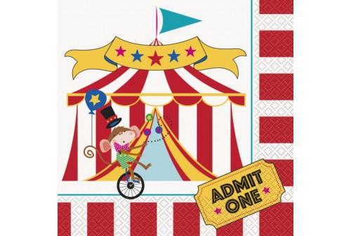 Serviettes thème cirque