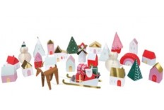 Calendrier village de l'avent 3D DIY