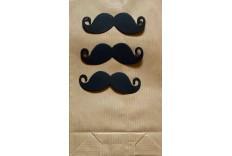 Kit sac en papier kraft thème moustaches