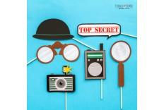 Kit photobooth Agent secret