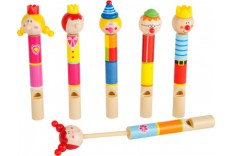 Sifflet clown en bois