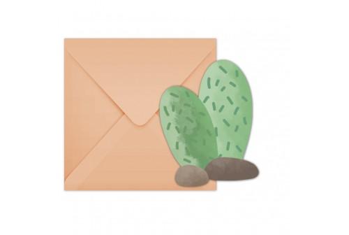 6 invitations Cactus