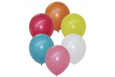 8 Ballons coloris assortis