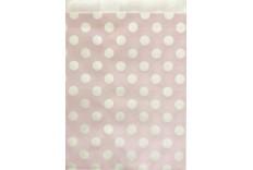 Pochettes en papier gris à pois rose x 12