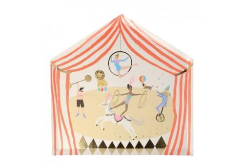 Assiettes Chapiteau de cirque