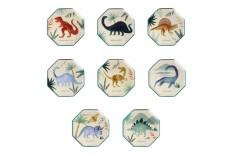 Assiettes Huit Dinosaures