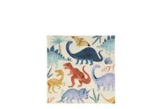 16 Serviettes Dinosaures