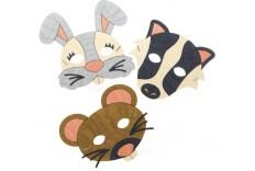 Masques animaux de la forêt à colorier