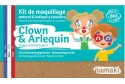 Kit de maquillage Clown & Arlequin