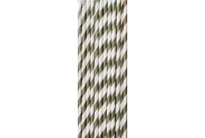 25 pailles de couleur blanche et gris