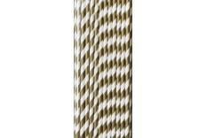25 pailles de couleur blanche et bronze