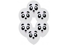 Ballon panda - set de 6 ballons
