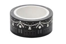 Masking tape Magie de Noël noir - argent