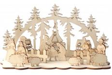 crèche DIY en bois