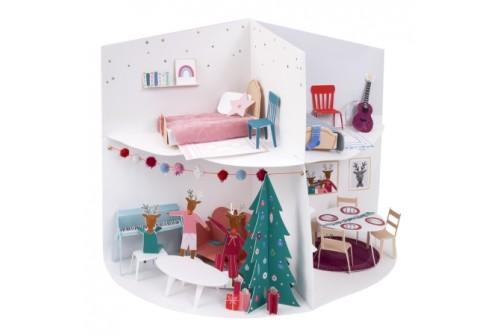 Maison de Noël cartonnée