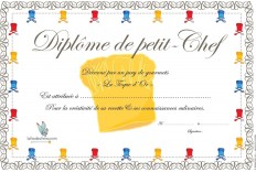 Diplômes de petit Chef