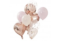 Set Ballons rose gold & rose