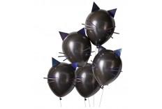 Ballon chat noir & iridescent