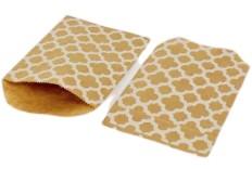 12 pochettes kraft brun carreaux de ciment blancs