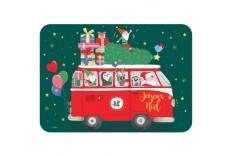 Carte Postale Bus Père Noël