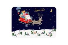 Carte Postale traineau Père Noël