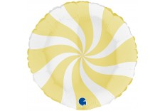 Ballon Tourbillon Jaune & blanc