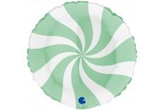 Ballon Tourbillon vert d'eau & blanc