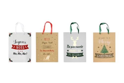 4 Sacs à cadeaux en papier