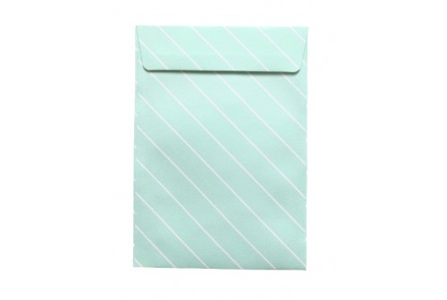 12 Enveloppes design vert pompadour