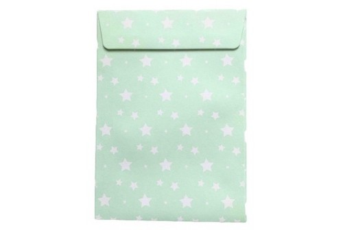 12 Enveloppes design vert d'eau