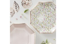 8 Assiettes composition florale