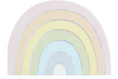 Serviettes arc en ciel iridescent