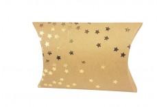 Pochette berlingot kraft étoile or x 24