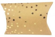 Grande Pochette berlingot kraft étoile or x 2